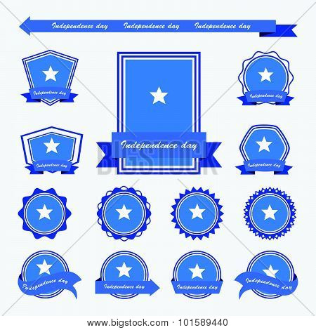 Somalia Independence Day Flags Infographic Design
