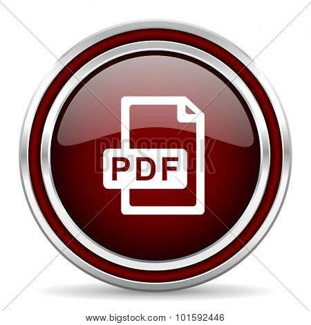 pdf file red glossy web icon
