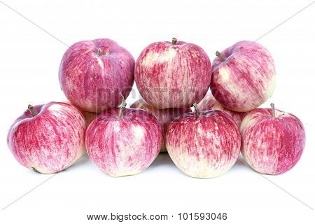 Big Red Apples Isolated On White Background