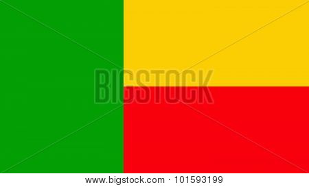 Benin Flag For Independence Day And Infographic Vector Illustration.