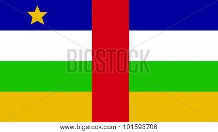 Central African Republic Flag For Independence Day And Infographic Vector Illustration.