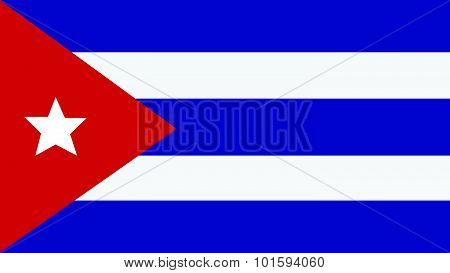 Cuba Flag For Independence Day And Infographic Vector Illustration.