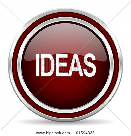 ideas red glossy web icon
