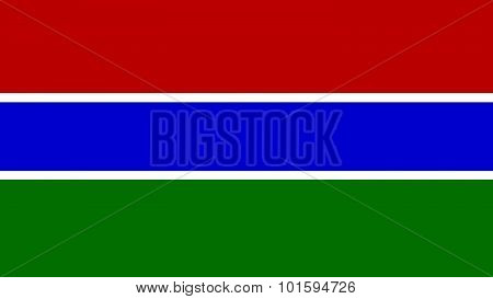 Gambia Flag For Independence Day And Infographic Vector Illustration.