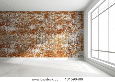 3d render of empty interior room