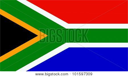 South Africa  Flag For Independence Day And Infographic Vector Illustration.