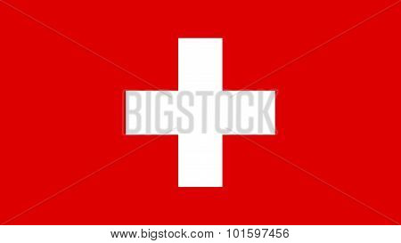Switzerland Flag For Independence Day And Infographic Vector Illustration.