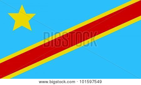 The Democratic Republic Of The Congo Flag For Independence Day And Infographic Vector Illustration.