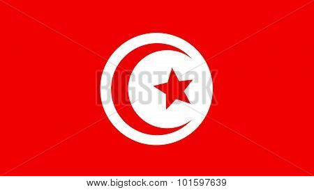 Tunisia Flag For Independence Day And Infographic Vector Illustration.