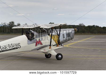 German Training Aircraft Bücker Bü 131 Jungmann Used By Luftwaffe During World War Ii.