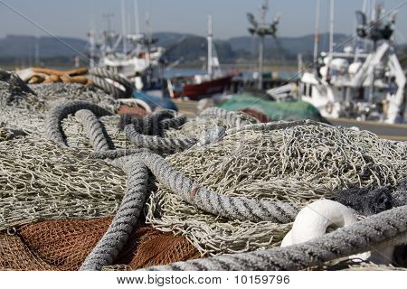 Fishing Nets For Fishing In The Sea