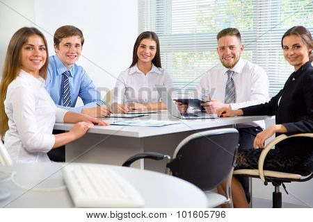 Group of business people in office. Businessteam.