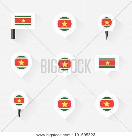 Sudan Flag And Pins For Infographic, And Map Design