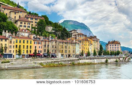 View Of The Embankment In Grenoble - France