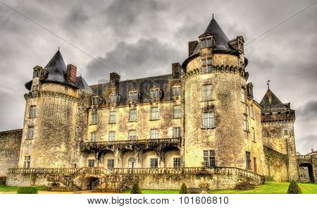 Chateau De La Roche Courbon In Charente-maritime Department Of France