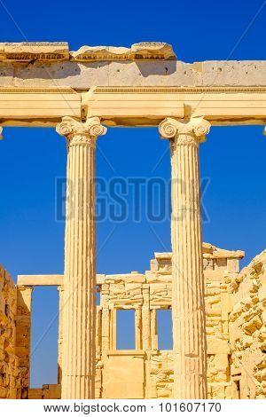 Architecture Detail Of Erechteion Temple In Acropolis