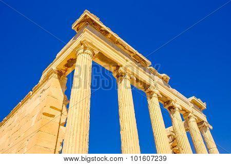 Architecture Detail Of Ancient Sandstone Temple Pillars