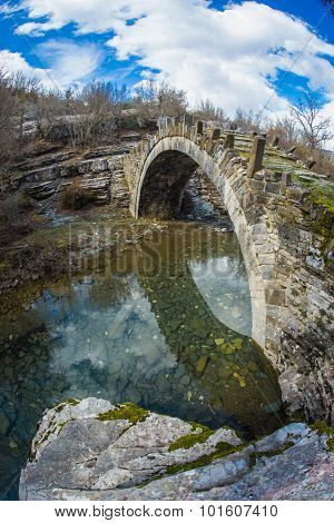 Captain Arcoudas Stone Bridge, Zagorohoria, Greece