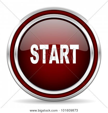 start red glossy web icon
