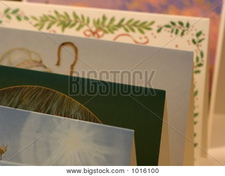 Row Of Greeting Cards For Christmas