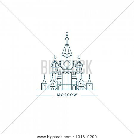 Saint Basil's Cathedral, Russia. Moscow Landmark
