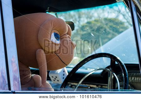 E.t. Driving A Classic American Muscle Car