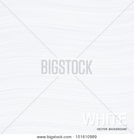 White wavy stripes texture paper or background.