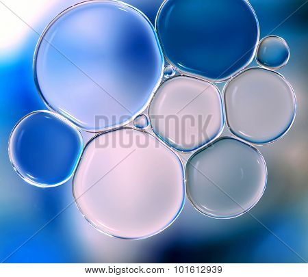 Water bubbles abstract light illumination background