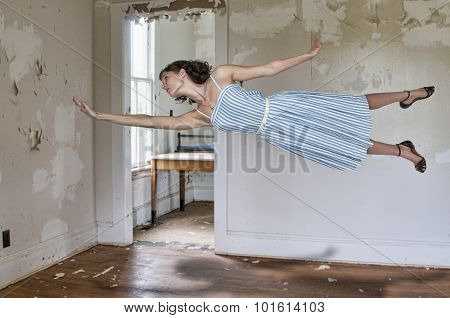 Woman floating