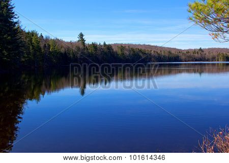 Morning on Chubb Pond in the Adirondack Mountains