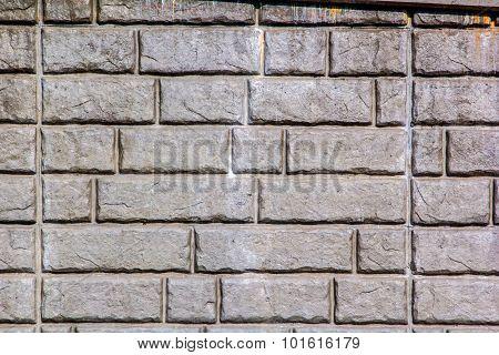 Retaining wall stone brick pattern
