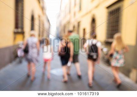 Pedestrians Walking