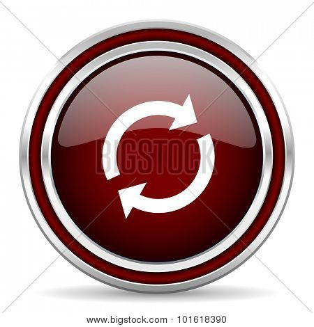 reload red glossy web icon