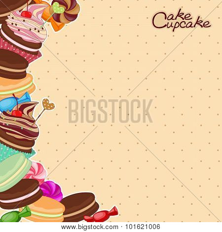 Vector illustration of confectionery products in the form