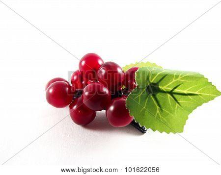 Plastic Grape Fruit On Black Hairpin