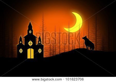 Spooky Halloween Church