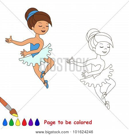 One cartoon pretty girl dance.