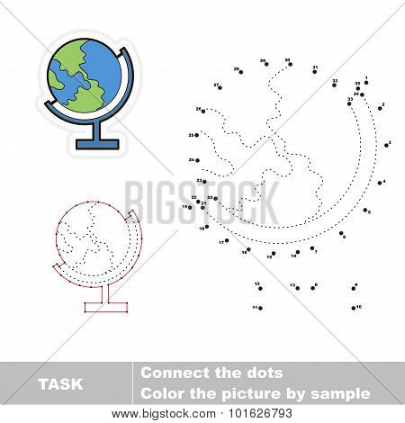 Connect dots for numbers and find hidden earth.