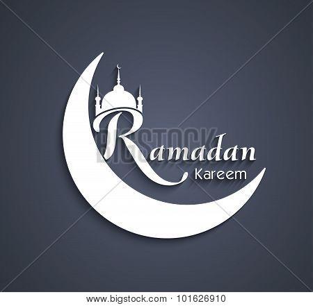 Vector Art Beautiful Ramadan Kareem Text Design