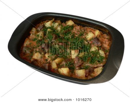 Delicious Goulash In Dish