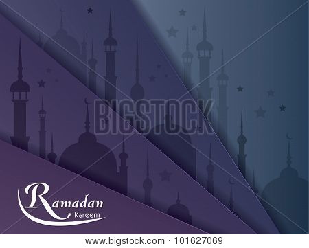 Ramadan Kareem Greeting Card Vector Background