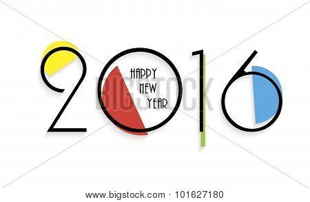 Creative Design Happy New Year 2016 Greeting Card