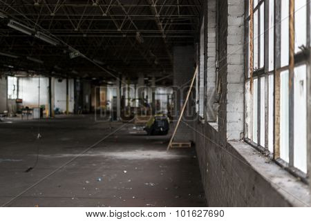 Deserted Dilapidated Factory In Ruin