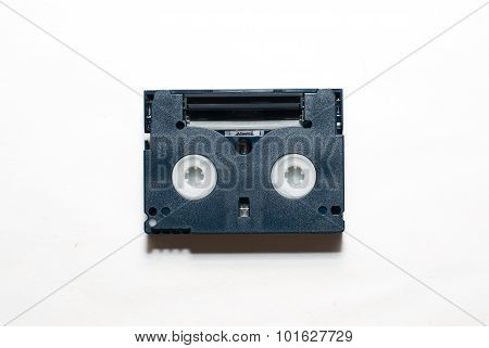 One  Video Cassette Are On Over White