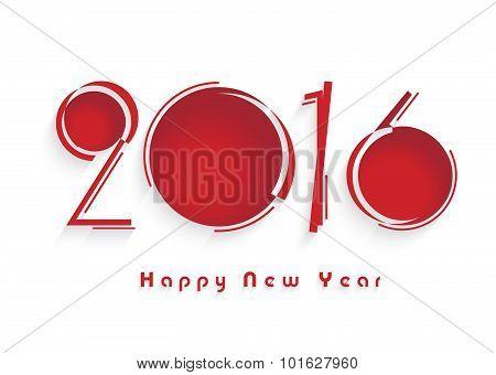 Greeting Card Happy New Year 2016. Creative Design