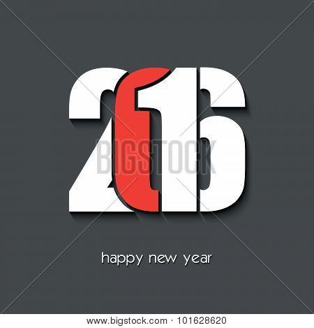 2016 Happy New Year Creative Greeting Card Design