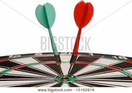 Two Darts On  A Dart Board