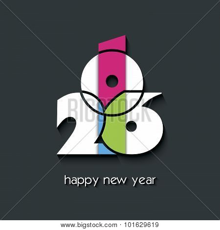 2016  New Year Creative Background For Your Greetings Card, Flyers, Invitation, Posters, Brochure, B