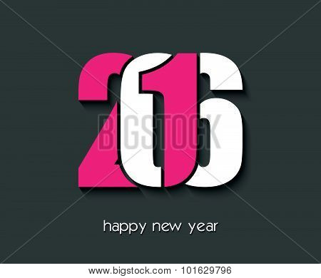 2016 Happy New Year Creative Design For Your Greetings Card, Flyers, Invitation, Posters, Brochure,