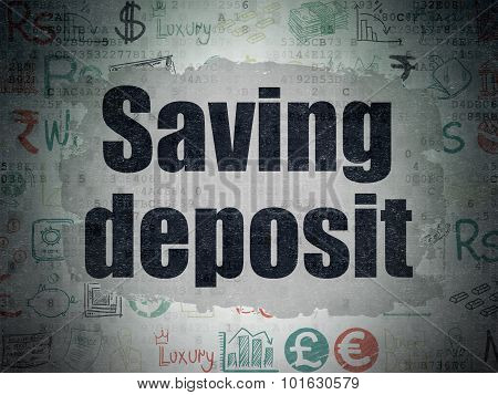 Banking concept: Saving Deposit on Digital Paper background